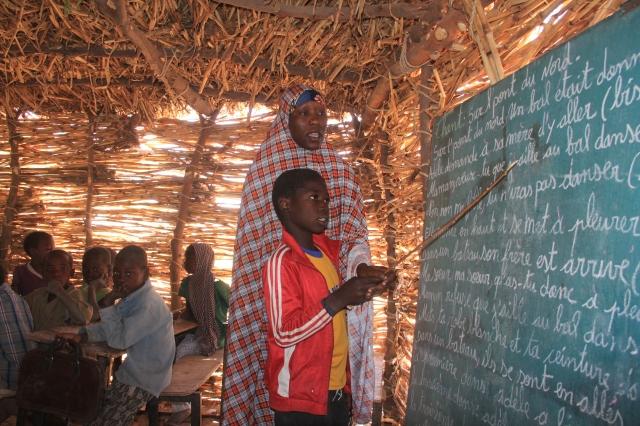 Hadiza teaching in Maradi, Niger.