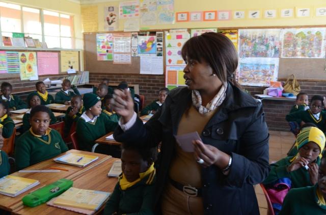 Nomvuyo, a teacher at a primary school in Alexandra township, Johannesburg. Photo: Eva-Lotta Jansson